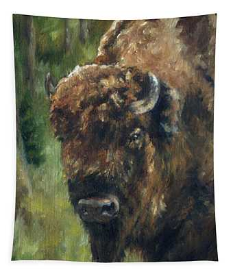 Bison Study - Zero Three Tapestry
