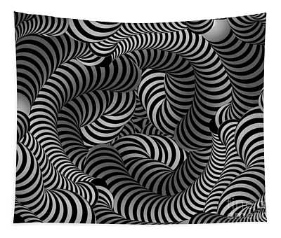 Black And White Illusion Tapestry