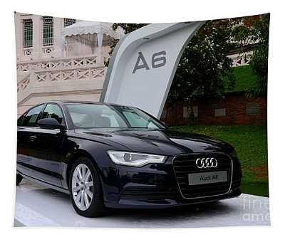Black Audi A6 Classic Saloon Car Tapestry