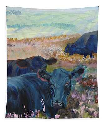 Black Cows On Dartmoor Tapestry