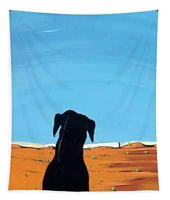 Black Dog In Chestertown, 1998 Tapestry