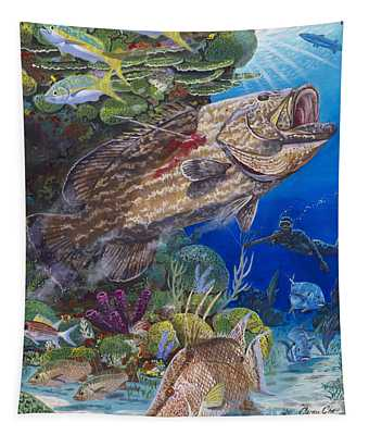 Black Grouper Hole Tapestry
