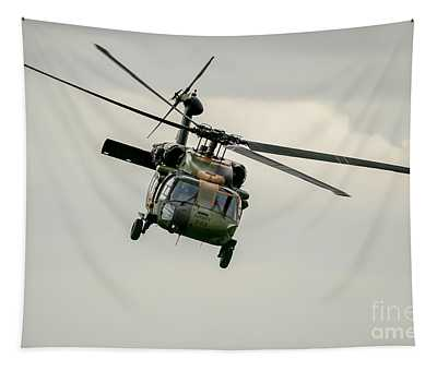 Black Hawk Swoops Tapestry
