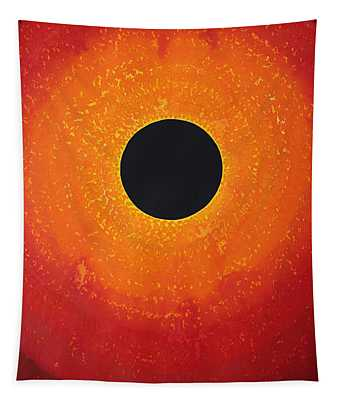 Black Hole Sun Original Painting Tapestry