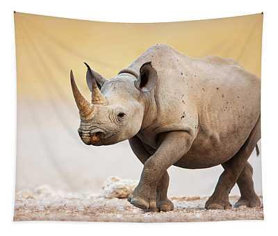 Black Rhinoceros Tapestry