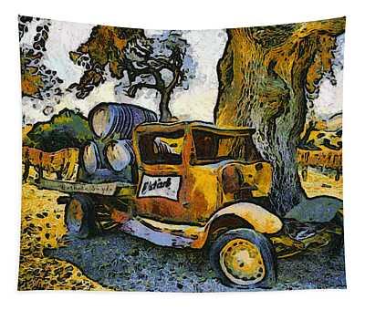 Blackjack Winery Truck Santa Ynez California Tapestry