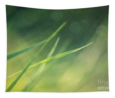 Blades Of Grass Bathing In The Sun Tapestry