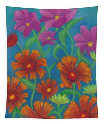 Blanket Flowers And Cosmos Tapestry