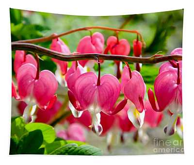 Bleeding Heart Flowers Tapestry