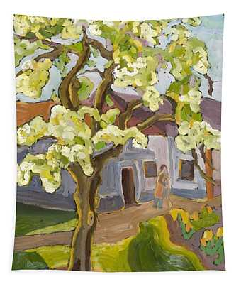 Blooming Pear Tree, 2008 Oil On Board Tapestry