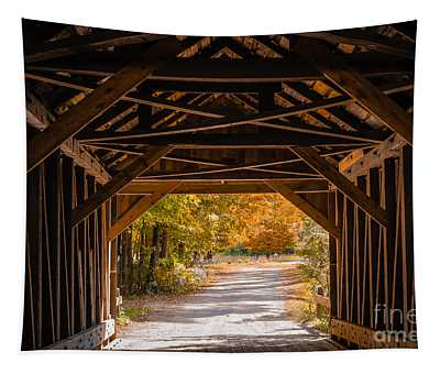 Blow-me-down Covered Bridge Cornish New Hampshire Tapestry