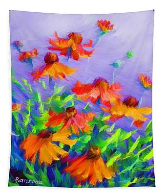 Blowing In The Wind Tapestry