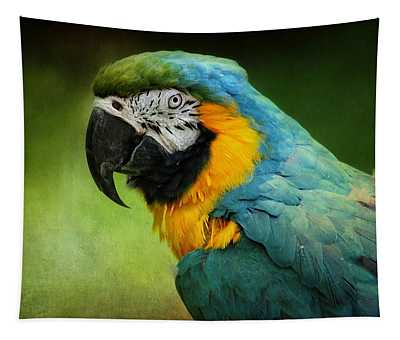 Blue And Yellow Macaw Tapestry