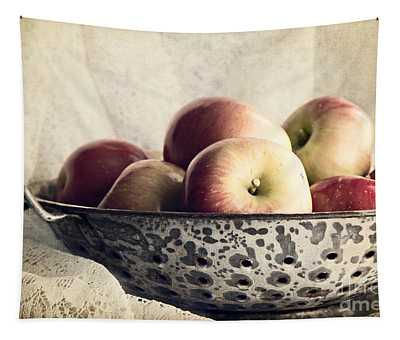 Blue Bowl Of Apples Tapestry