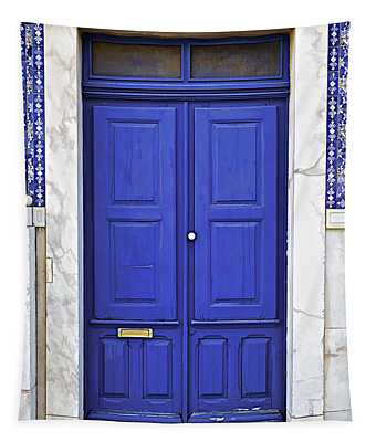 Blue Door Of Estremoz  Tapestry