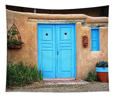 Blue Doors Of Taos Tapestry