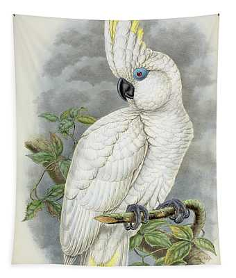 Blue-eyed Cockatoo Tapestry