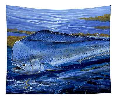 Blue Mahi Off0071 Tapestry