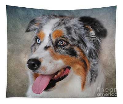 Blue Merle Australian Shepherd Tapestry