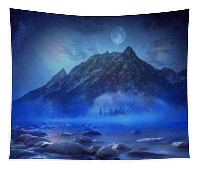 Blue Mist Rising Tapestry