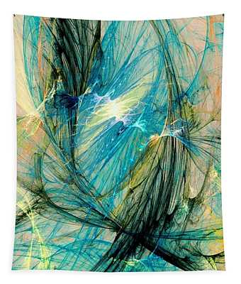Blue Phoenix Tapestry