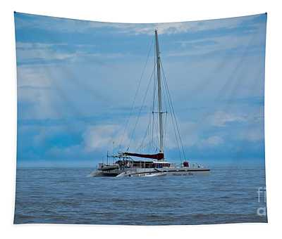 Tapestry featuring the photograph Blue Seascape by Gary Keesler