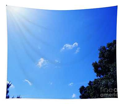 Blue Sky And Sunshine Tapestry