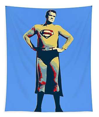Blue Superman Tapestry