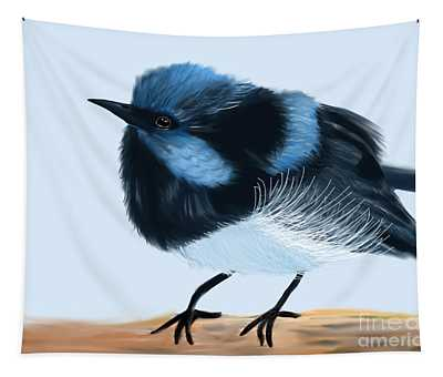 Blue Wren Beauty Tapestry