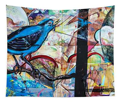 Bluebird Sings With Happiness Tapestry
