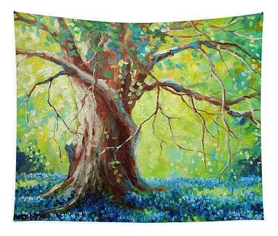 Bluebonnets Under The Oak Tapestry
