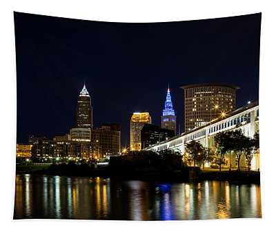 Blues In Cleveland Ohio Tapestry
