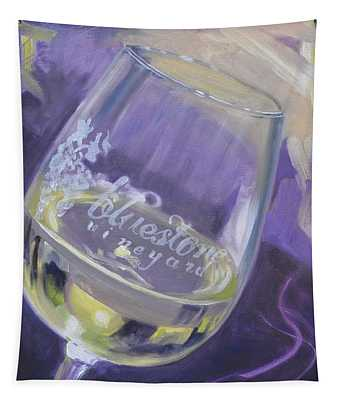 Bluestone Vineyard Wineglass Tapestry