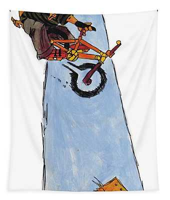 Bmx Drawing Tapestry