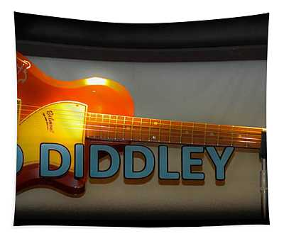 Tapestry featuring the photograph Bo Diddley's Guitar by Gary Keesler