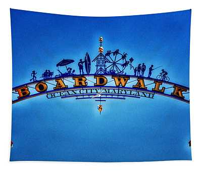 Boardwalk Arch In Ocean City Tapestry