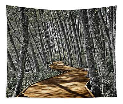 Boardwalk In The Woods Tapestry