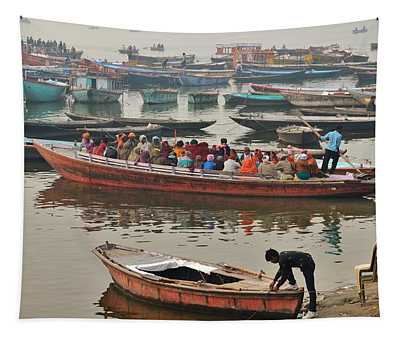 The Journey - Varanasi India Tapestry