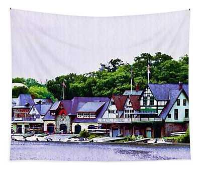 Boathouse Row Panarama Tapestry