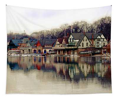 Boathouse Row Philadelphia Tapestry