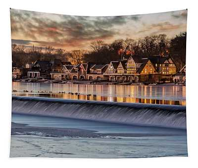 Boathouse Row Philadelphia Pa Tapestry