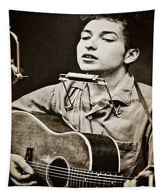 Tapestry featuring the photograph Bob Dylan by Gary Keesler
