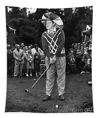 Bob Hope At Bing Crosby National Pro-am Golf Championship  Pebble Beach Circa 1955 Tapestry