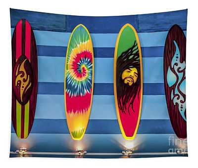 Tapestry featuring the photograph Bob Marley Surfing Display by Gary Keesler