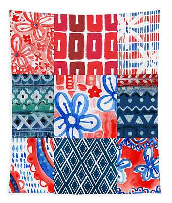 Boho Americana- Patchwork Painting Tapestry