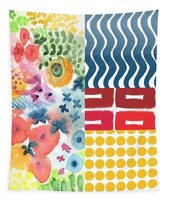 Bold Boho Patchwork- Abstract Art Tapestry