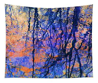 Bold Tree Reflections Tapestry