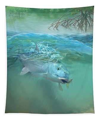 Bone Fish Tapestry