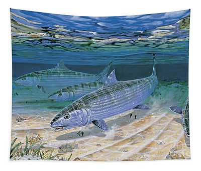 Fly Fishing Paintings Wall Tapestries