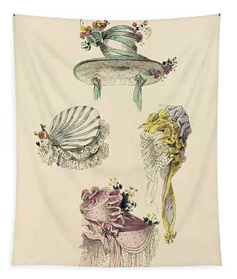 Bonnets For An Occasion, Fashion Plate Tapestry